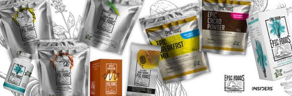 Llega Epic Foods for an Epic Living, la primera línea de súper alimentos funcionales