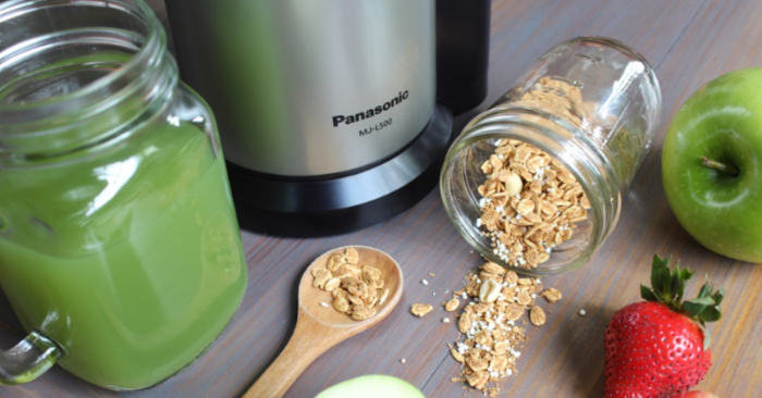 Slow Juicer de Panasonic, brinda un recetario de jugos naturales, saludables y con todos los nutrientes