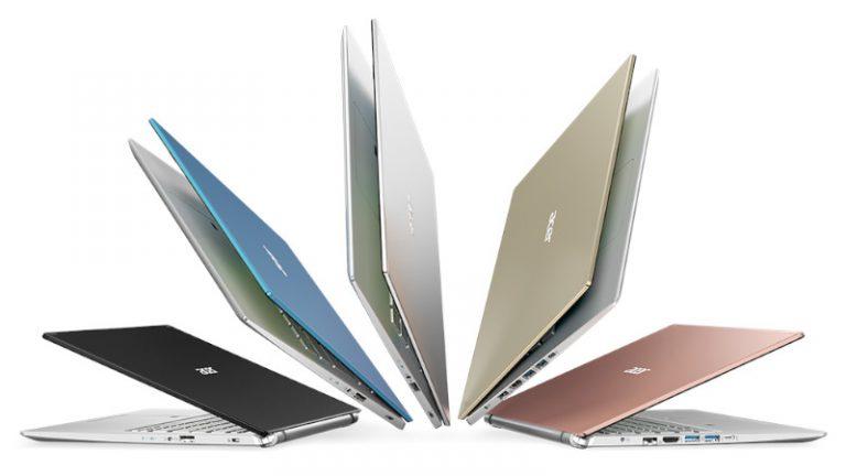 Acer anuncia su más reciente línea de notebooks para consumidor de las series Swift, Spin y Aspire