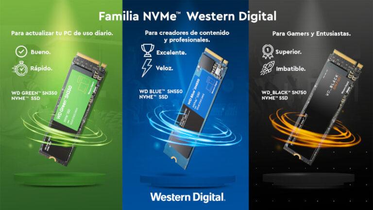 Western Digital lleva la tecnología NVMe al cómputo del hogar
