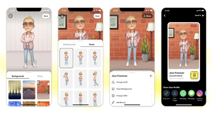 Los perfiles de Snap estrenan look y nueva dimensión, con Bitmoji 3D
