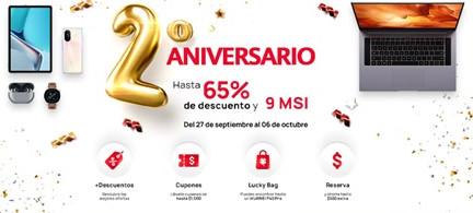 Huawei otorga descuentos de hasta 65% en el segundo aniversario de su tienda online