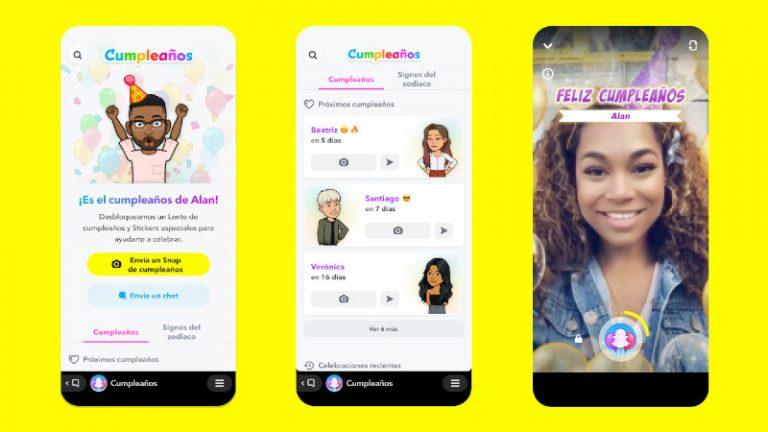 La forma más divertida de felicitar a tus amigos ahora está en Snapchat con Mini de Cumpleaños